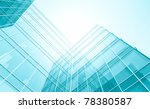 futuristic downtown in the dawn | Shutterstock . vector #78380587