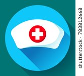 nurse hat icon vector flat... | Shutterstock .eps vector #783812668
