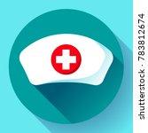 nurse hat icon vector flat... | Shutterstock .eps vector #783812674