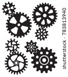 interlocking gears and cogs... | Shutterstock .eps vector #783813940