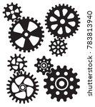 interlocking gears and cogs... | Shutterstock .eps vector #783813940