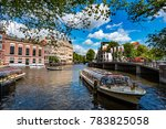 Small photo of NETHERLANDS, AMSTERDAM : AUGUST 8, 2016: Amsterdam is ranked fifth best of European cities in which to locate an international business, surpassed by London, Paris, Frankfurt and Barcelona.