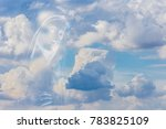 the medjugorje blessed virgin... | Shutterstock . vector #783825109