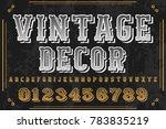 font alphabet script typeface... | Shutterstock .eps vector #783835219