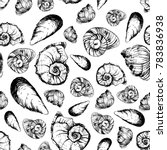 seamless pattern with various... | Shutterstock .eps vector #783836938