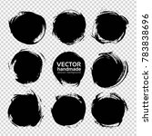 black round abstract textured... | Shutterstock .eps vector #783838696