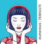 vector young beautiful asian... | Shutterstock .eps vector #783842170