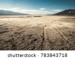 Small photo of View of a salt desert from badwater basin, Death Valley National Park - California