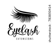 eyelash extension logo. vector... | Shutterstock .eps vector #783850414