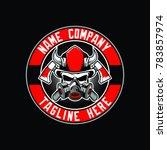 skull firefighter logo template | Shutterstock .eps vector #783857974