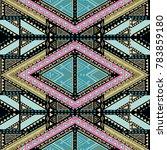 hand drawn seamless pattern.... | Shutterstock .eps vector #783859180