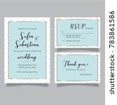 wedding vector baby blue set of ...   Shutterstock .eps vector #783861586
