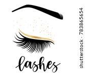 lashes lettering. vector... | Shutterstock .eps vector #783865654