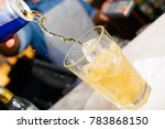 Energy Drink Being Poured At A...