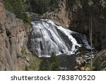 Gibbon Falls  Yellowstone...