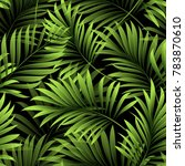 tropical palm leaves  jungle... | Shutterstock .eps vector #783870610