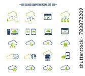 cloud computing icon set....