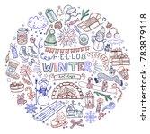 hand drawn winter illustration...   Shutterstock .eps vector #783879118