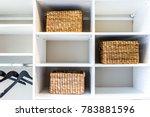 closeup of woven straw baskets...   Shutterstock . vector #783881596