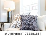 closeup of two pillows on couch ... | Shutterstock . vector #783881854
