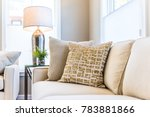 closeup of two pillows on couch ... | Shutterstock . vector #783881866