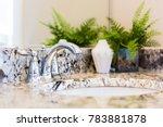 closeup of modern bathroom sink ... | Shutterstock . vector #783881878