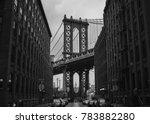 manhattan bridge as seen from... | Shutterstock . vector #783882280