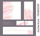 identity style. design template.... | Shutterstock .eps vector #783883339