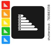 efficiency chart icon sign 3d... | Shutterstock . vector #783883558