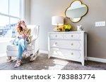 bright white modern rocking... | Shutterstock . vector #783883774