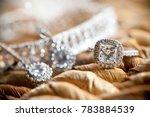 diamond wedding rings | Shutterstock . vector #783884539