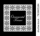 vintage ornamental frame.... | Shutterstock .eps vector #783885184