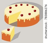 beautiful cake with cream and... | Shutterstock .eps vector #783886276