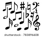 music note icons vector set ...   Shutterstock .eps vector #783896608