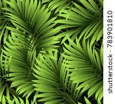 tropical palm leaves  jungle... | Shutterstock .eps vector #783901810