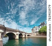 pont neuf bridge on seine river ... | Shutterstock . vector #783903979