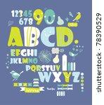 sweet character font set  very...   Shutterstock .eps vector #78390529