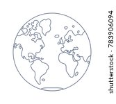 world map globe line icon ...   Shutterstock .eps vector #783906094
