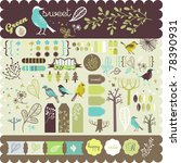 scrapbook collection for party  ... | Shutterstock .eps vector #78390931