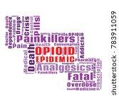 opioid crisis word cloud... | Shutterstock .eps vector #783911059