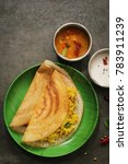 masala dosa   indian lentil ... | Shutterstock . vector #783911239