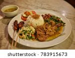 indonesian mix rice ... | Shutterstock . vector #783915673