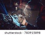 closeup of an auto mechanic... | Shutterstock . vector #783915898