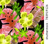 watercolor seamless pattern... | Shutterstock . vector #783919126
