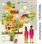 india travel map. vector... | Shutterstock .eps vector #783920086