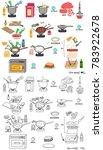 recipe lasagna vector diy...   Shutterstock .eps vector #783922678
