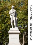 Small photo of NEW YORK - OCTOBER 22: A view of the Alexander Hamilton Monument in Central Park, New York City on October 22, 2017.