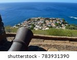 cannon in the real fortress of...