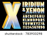 a stylized alphabet with shiny... | Shutterstock .eps vector #783933298