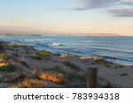 landscape of sand dunes on the... | Shutterstock . vector #783934318